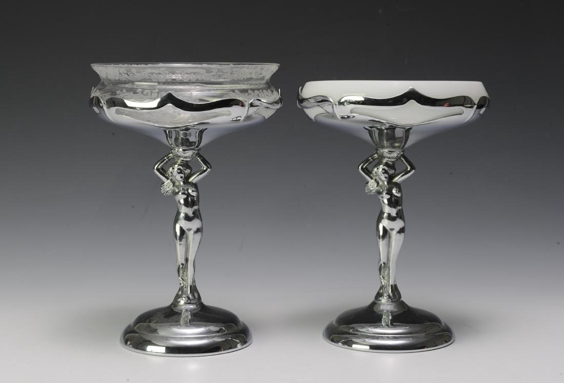 Two Cambridge Glass - Farber Bros. Compotes