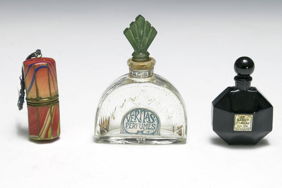 Three Small Perfume Bottles