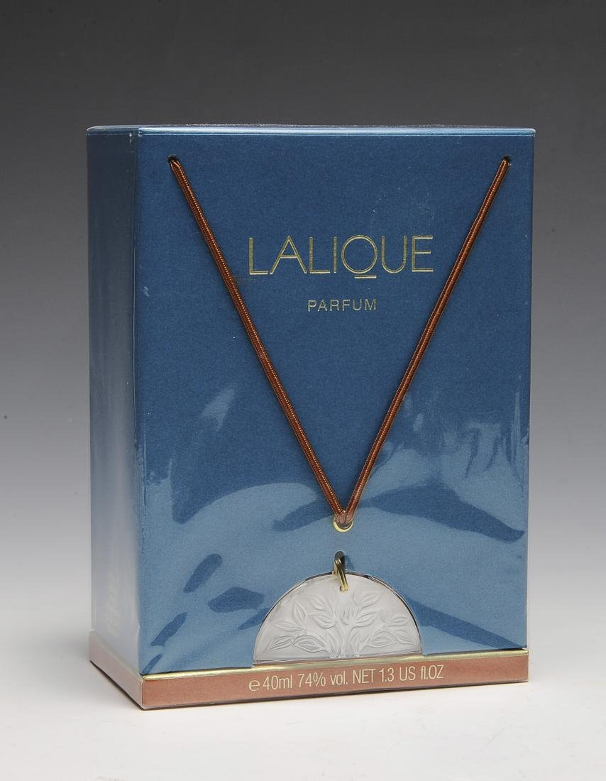 Sealed Lalique Parfum with Crystal Pendant