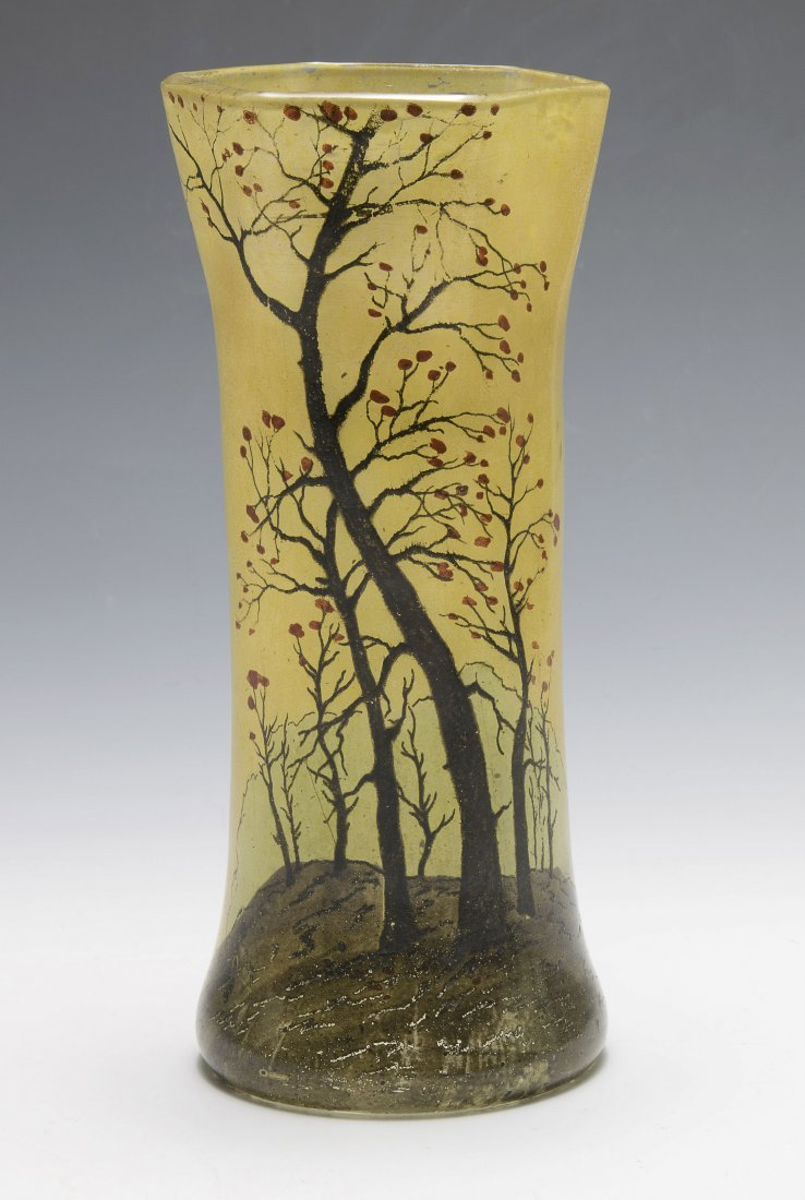 Art Glass Vase by Legras