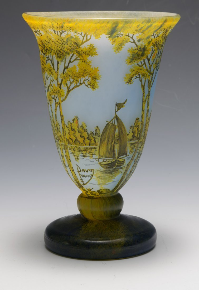 A Fine Daum Nancy Footed Vase