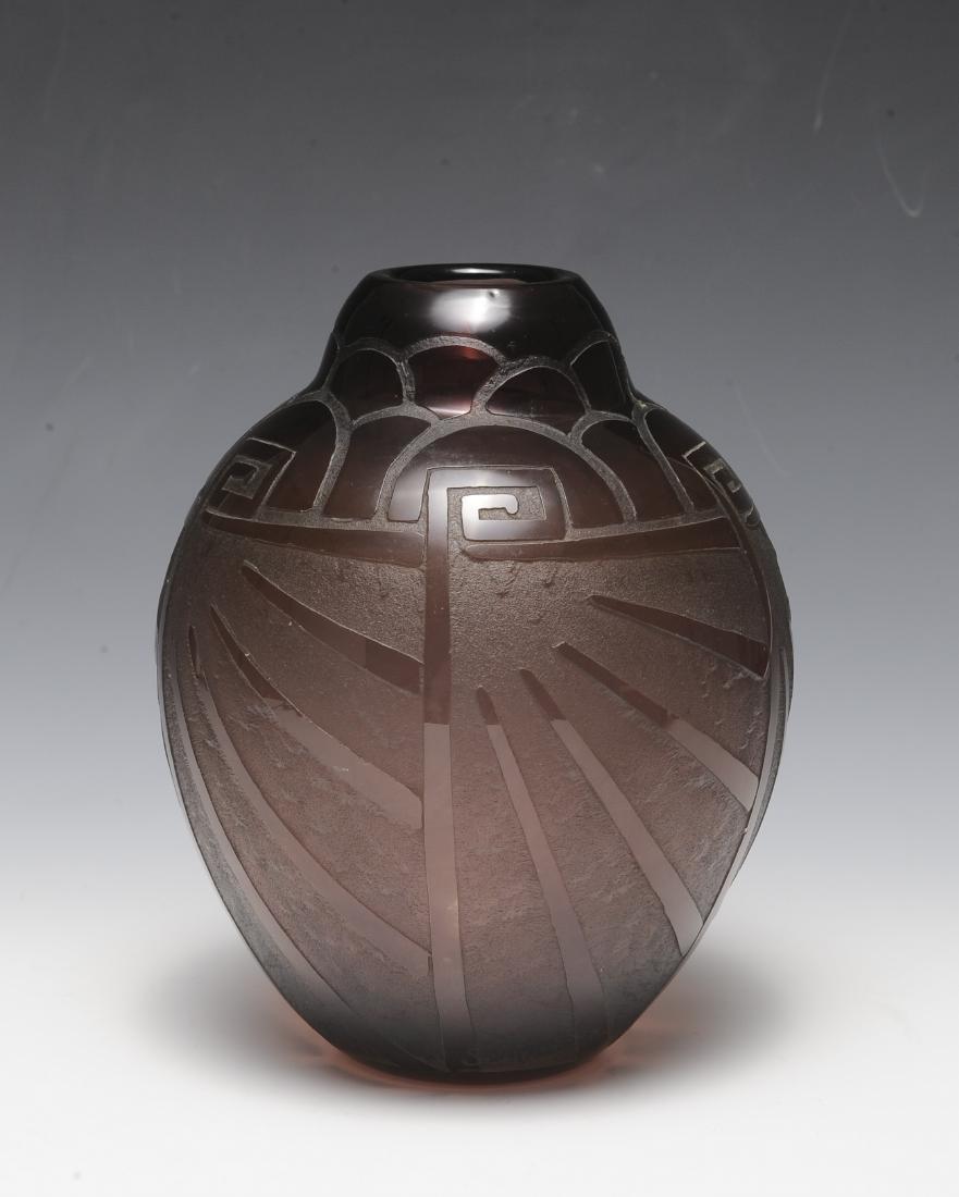 Art Deco Purple Vase by Scheinder