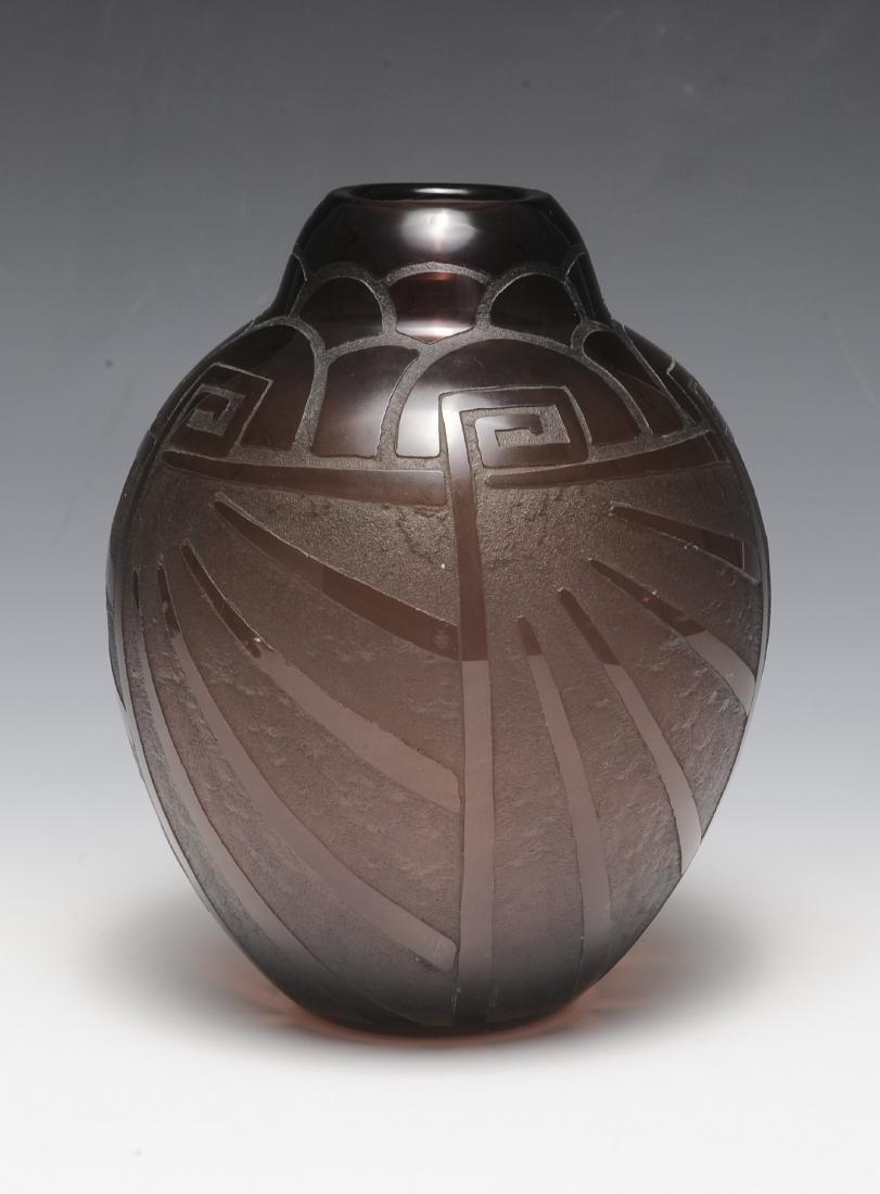 Art Deco Purple Vase by Scheinder - 2