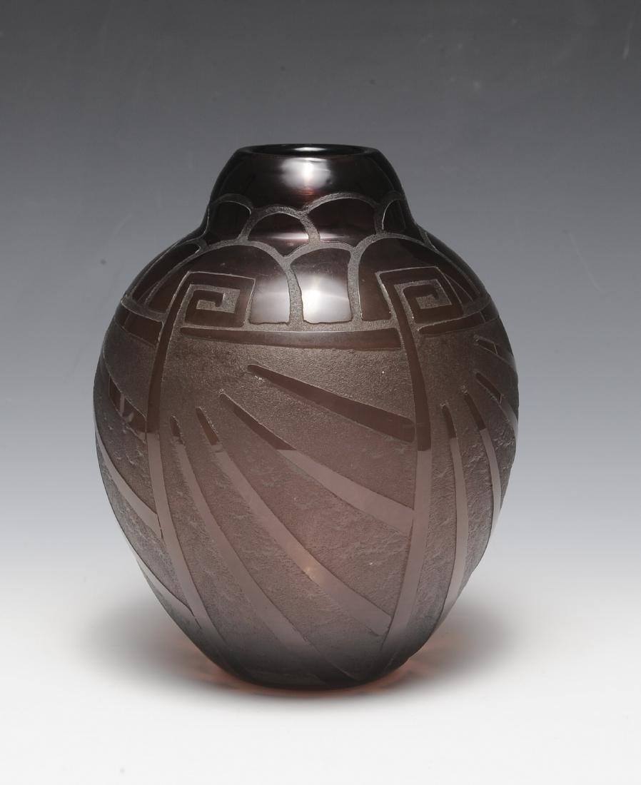 Art Deco Purple Vase by Scheinder - 3