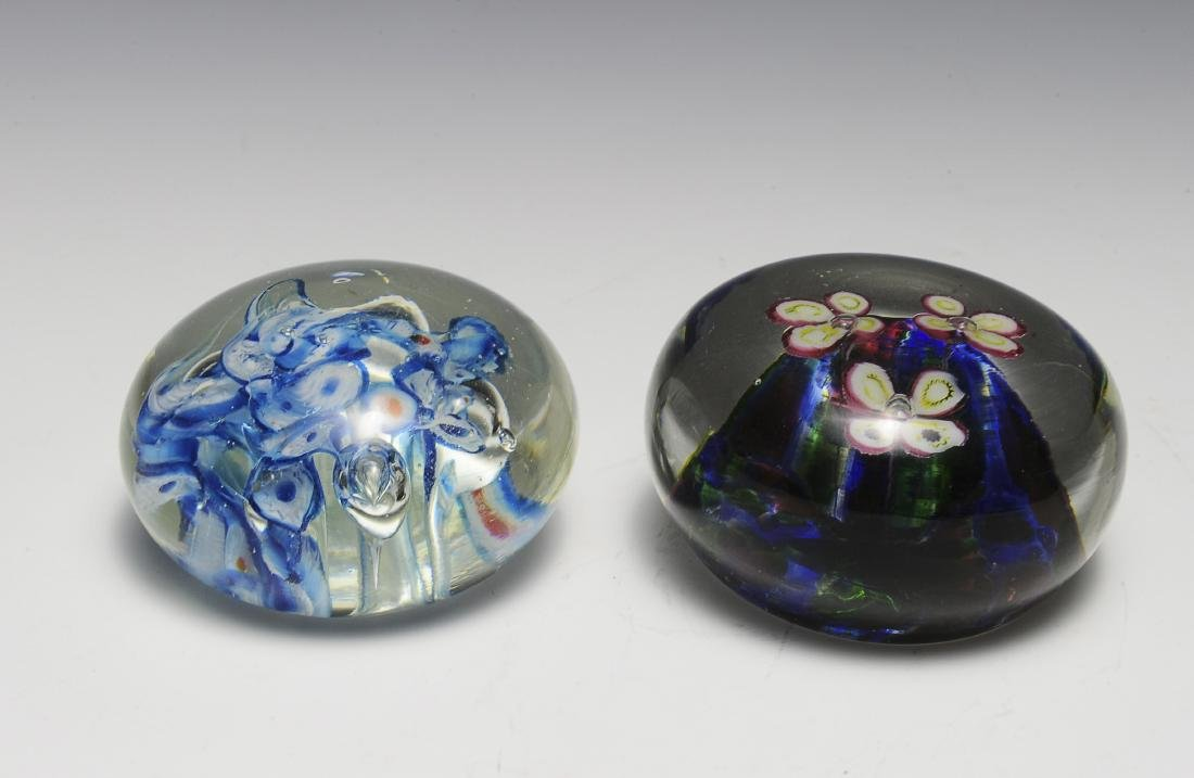 Two Czech Glass Paperweights