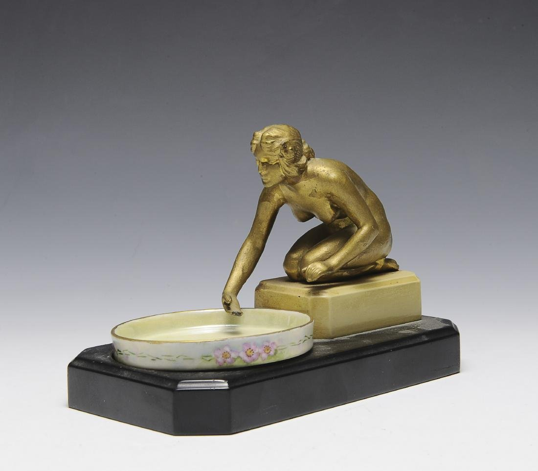 Dresser Tray with Spelter Nude