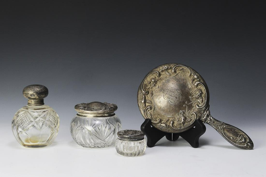 Sterling Silver & Glass Dresser Accessories