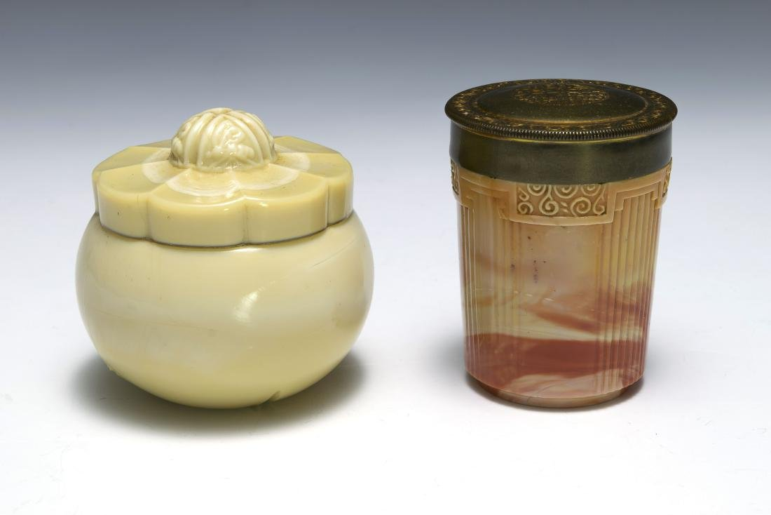Two Glass Dresser Jars, Inc. Yardley