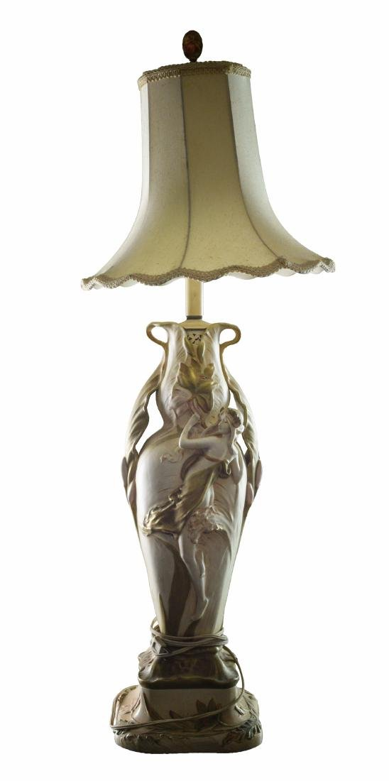 An Amphora Art Nouveau Table Lamp
