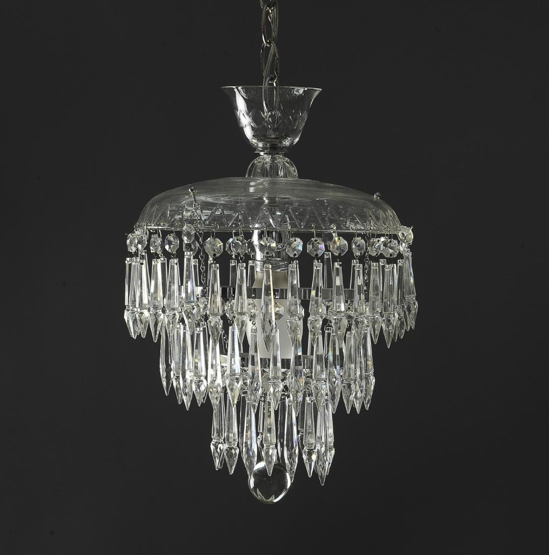 Glass Chandelier with Crystals