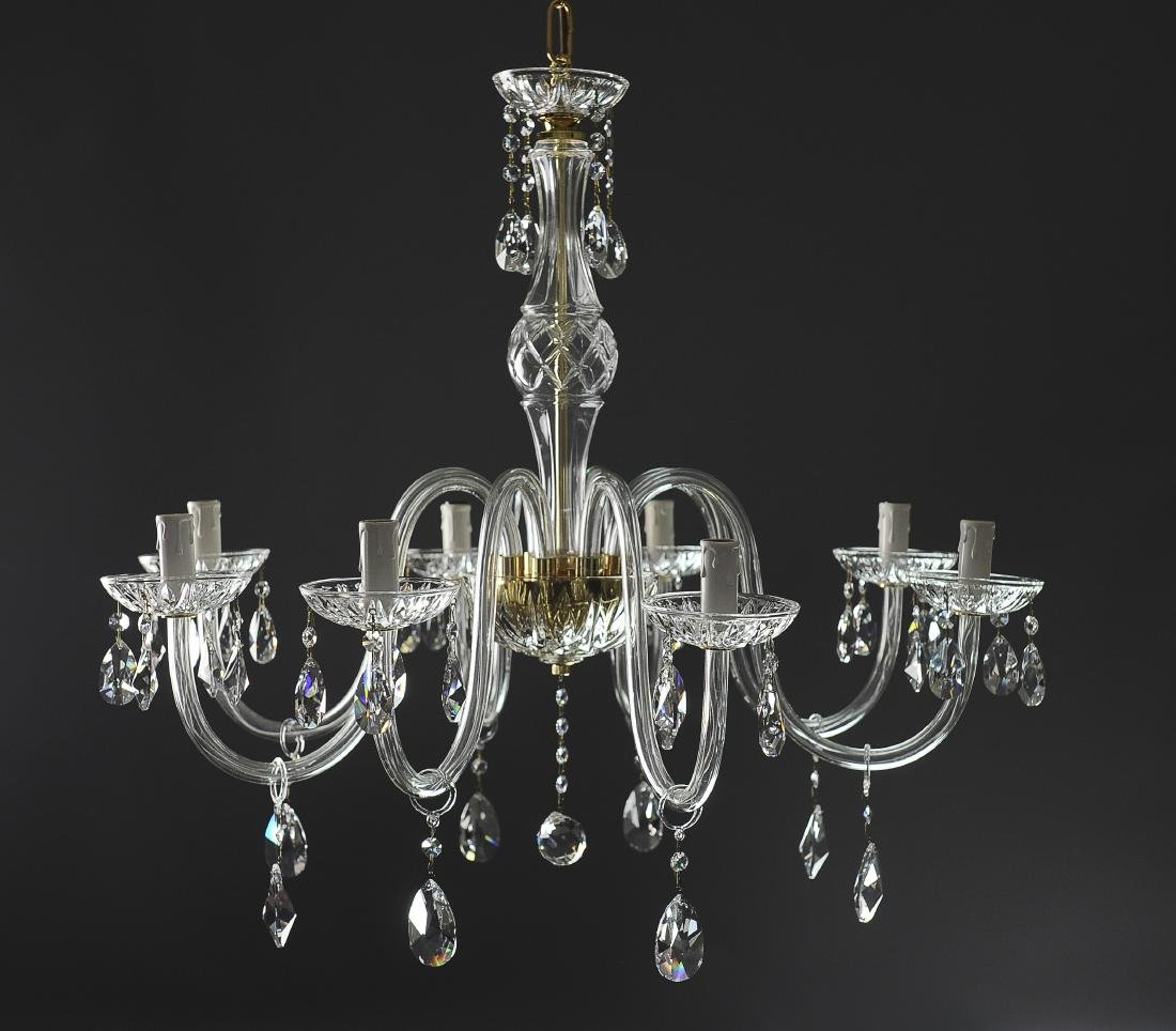 An Italian Blown Glass and Crystal Chandelier