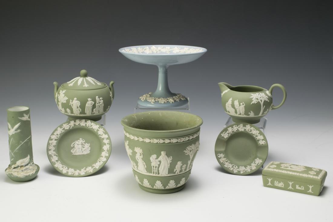 Eight Pieces of Jasperware