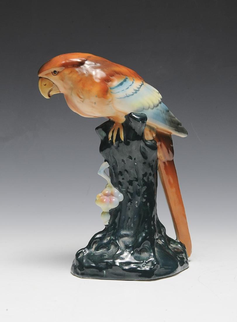Czech Pottery Parrot Figurine