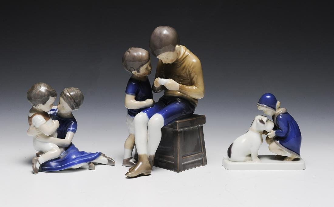 Three Bing & Grondahl Porcelain Figure Groups