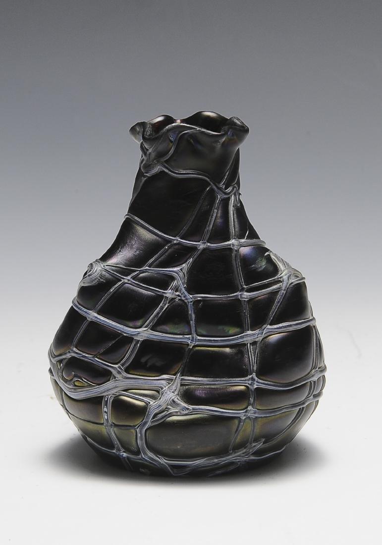 Small Pallme Koenig Iridescent Pinched Vase