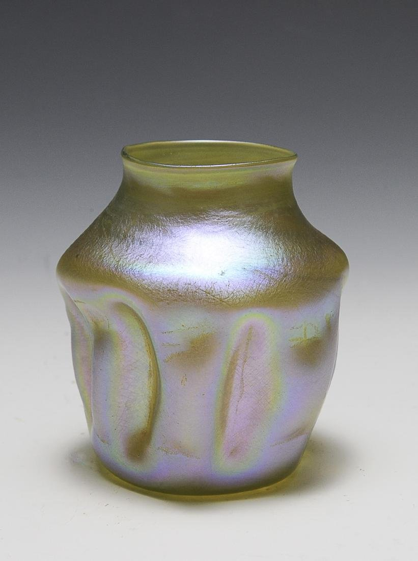 Tiffany Favrile Pinched Vase