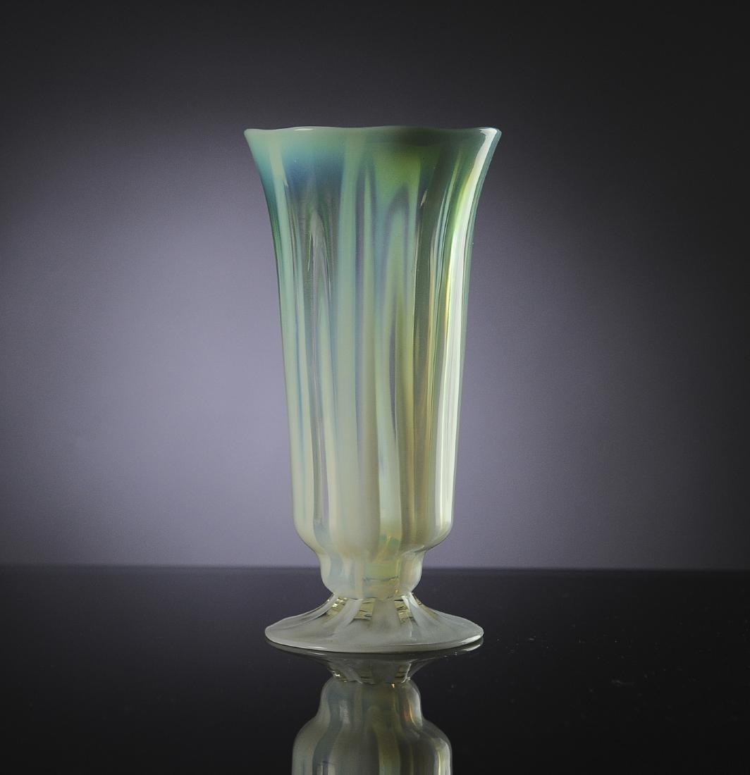 A Tiffany Favrile Opaline Vase