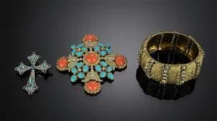 Three Pieces Costume Jewelry Inc Kenneth J Lane