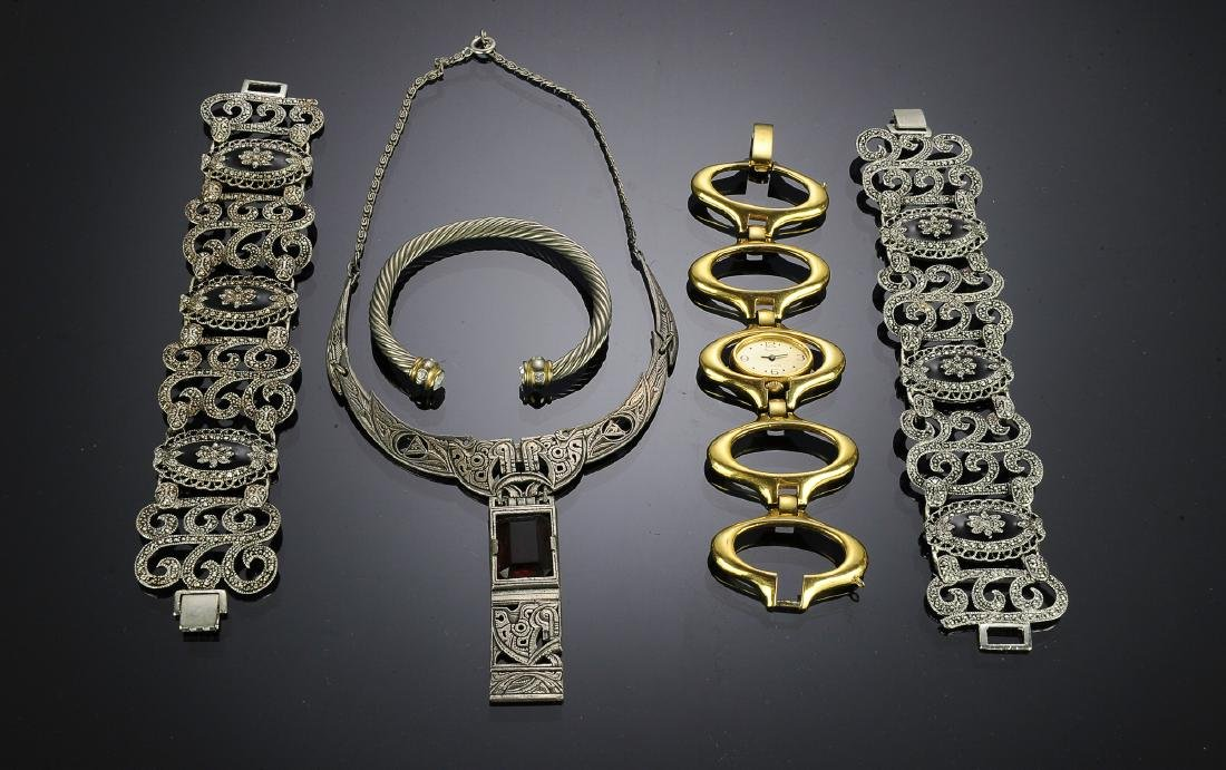 Five Pieces of Costume Jewelry