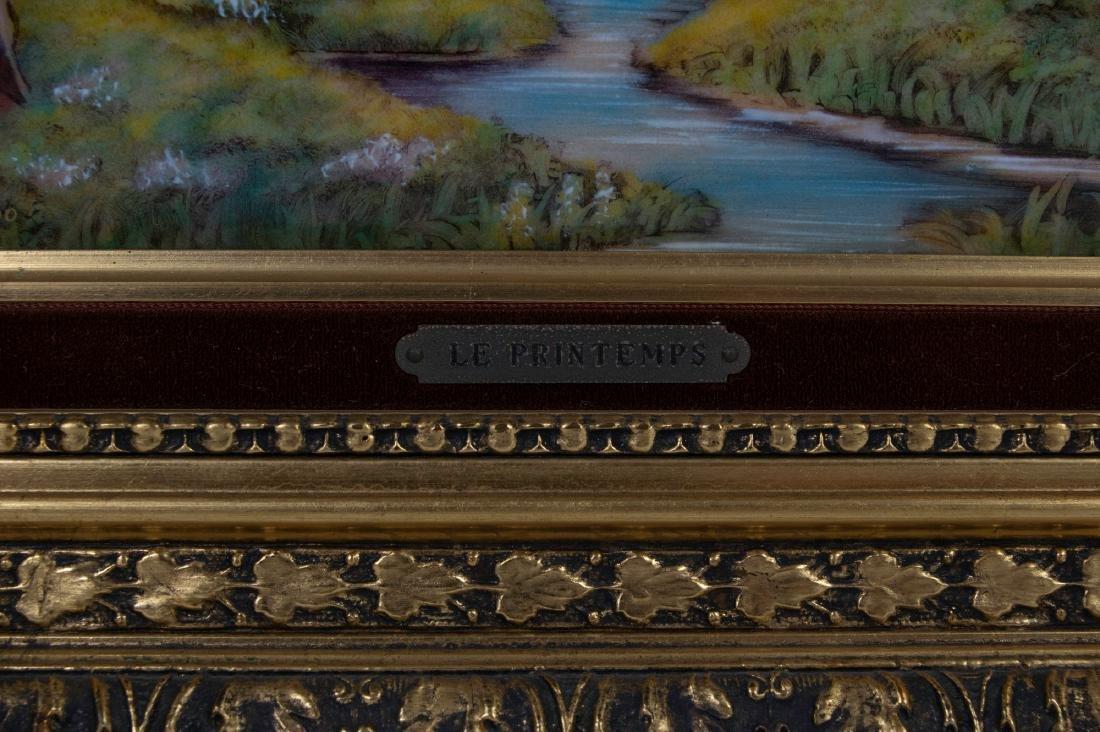 Limoges Porcelain Plaque #69/200 - 2