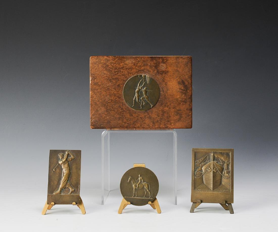 Bronze Medallions in Original Box