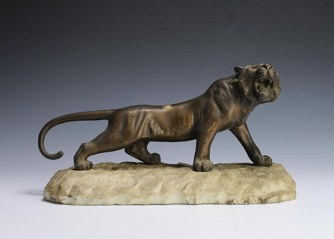 Brass Sculpture of a Lioness