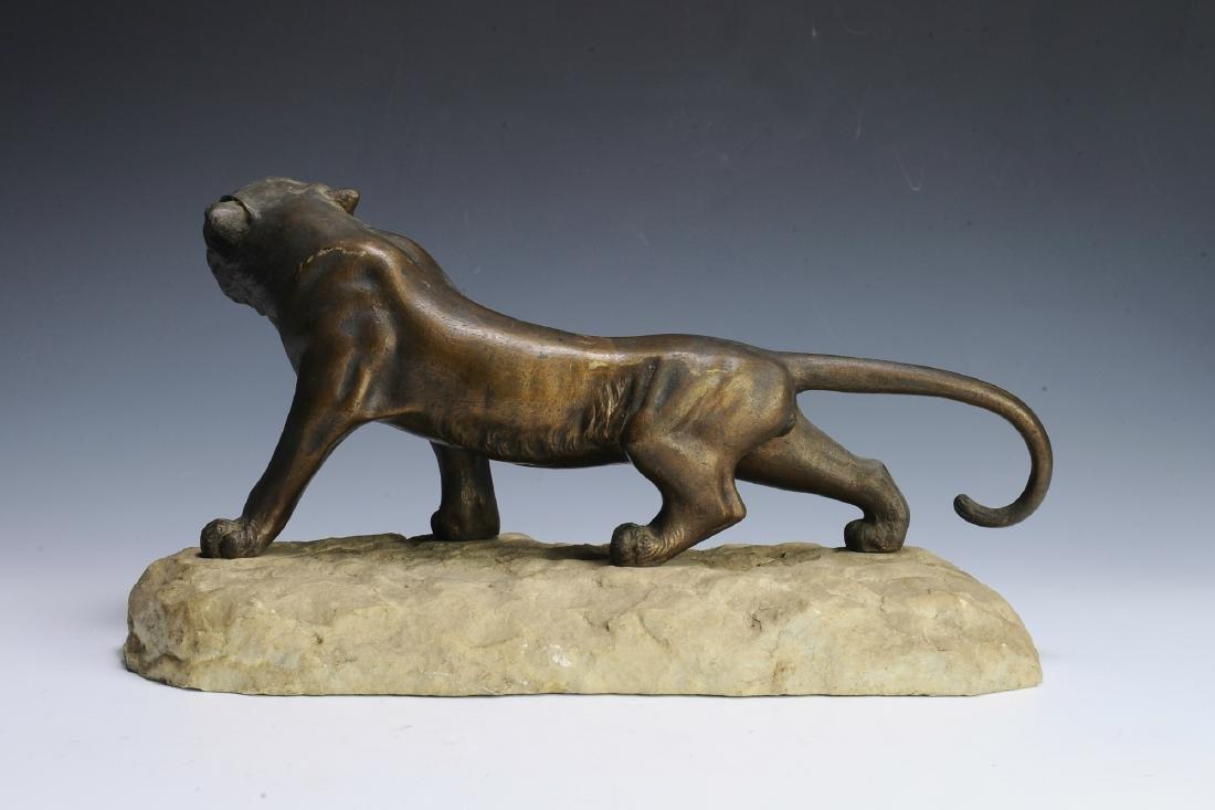 Brass Sculpture of a Lioness - 3