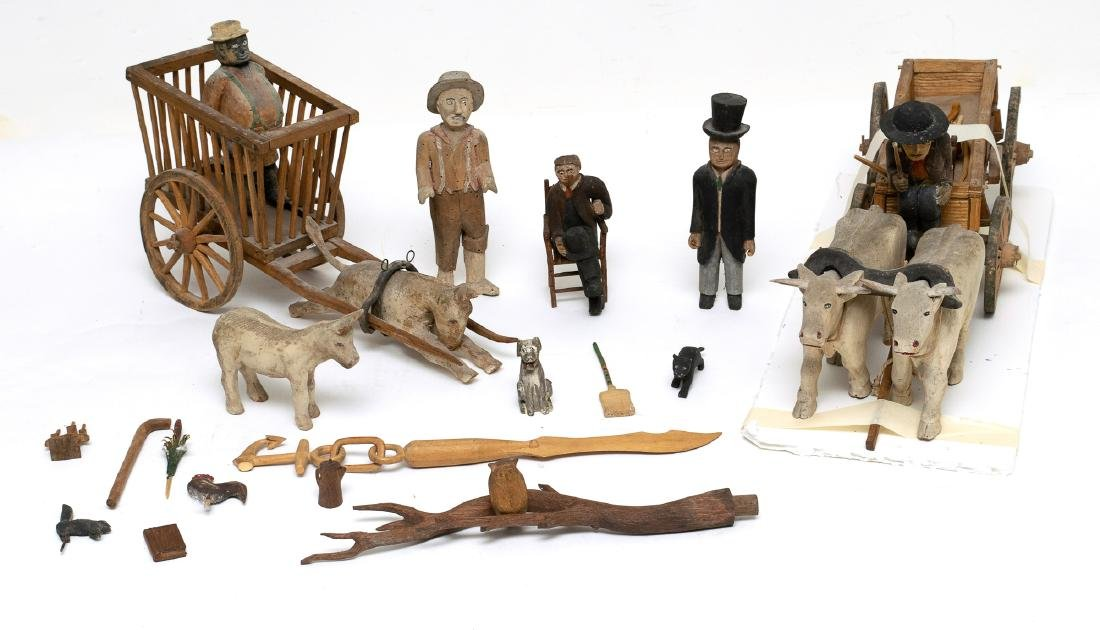 A Fine Group of Folk Art Carving from Iowa