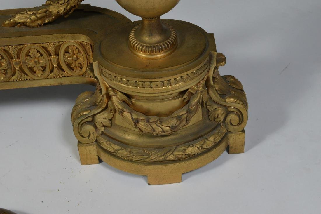 Cast Bronze French Empire Fireplace Decor - 4