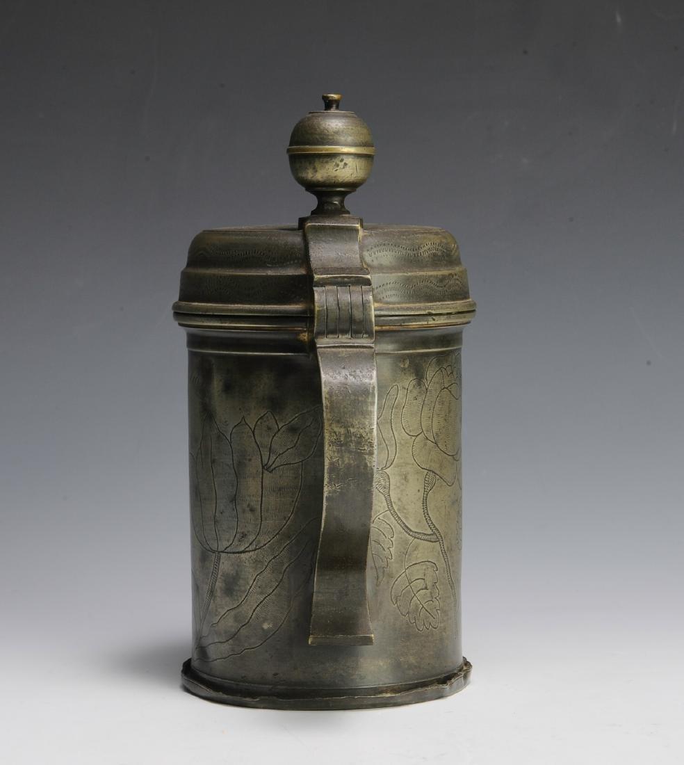 19th Century Pewter Tankard - 4