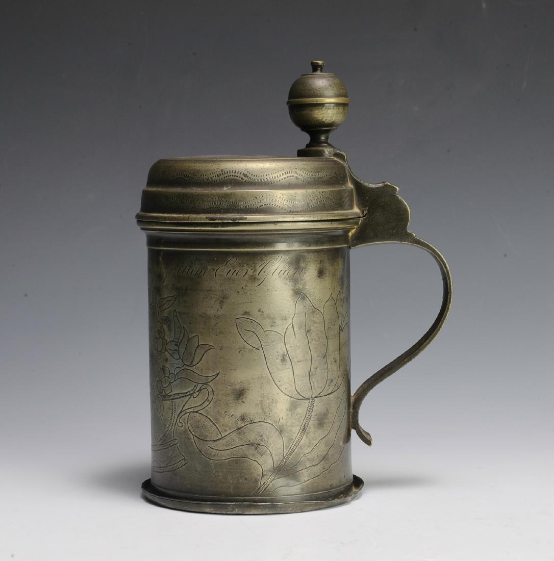 19th Century Pewter Tankard - 5