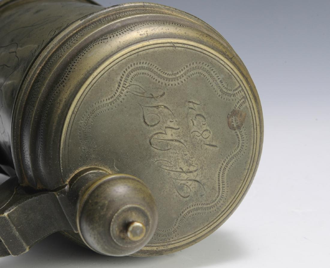 19th Century Pewter Tankard - 8