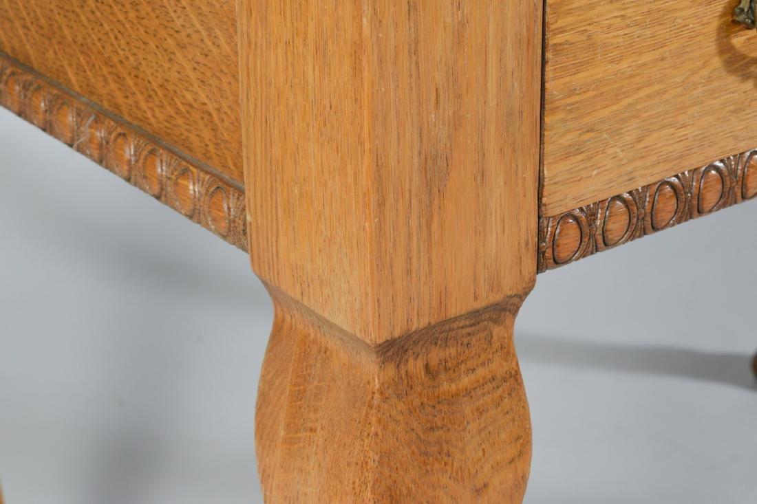 Antique Oak Ladies Writing Table - 2