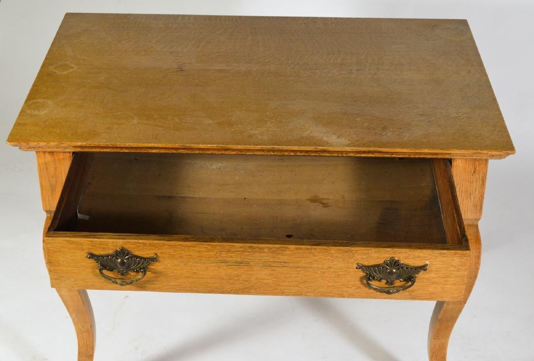 Antique Oak Ladies Writing Table - 4