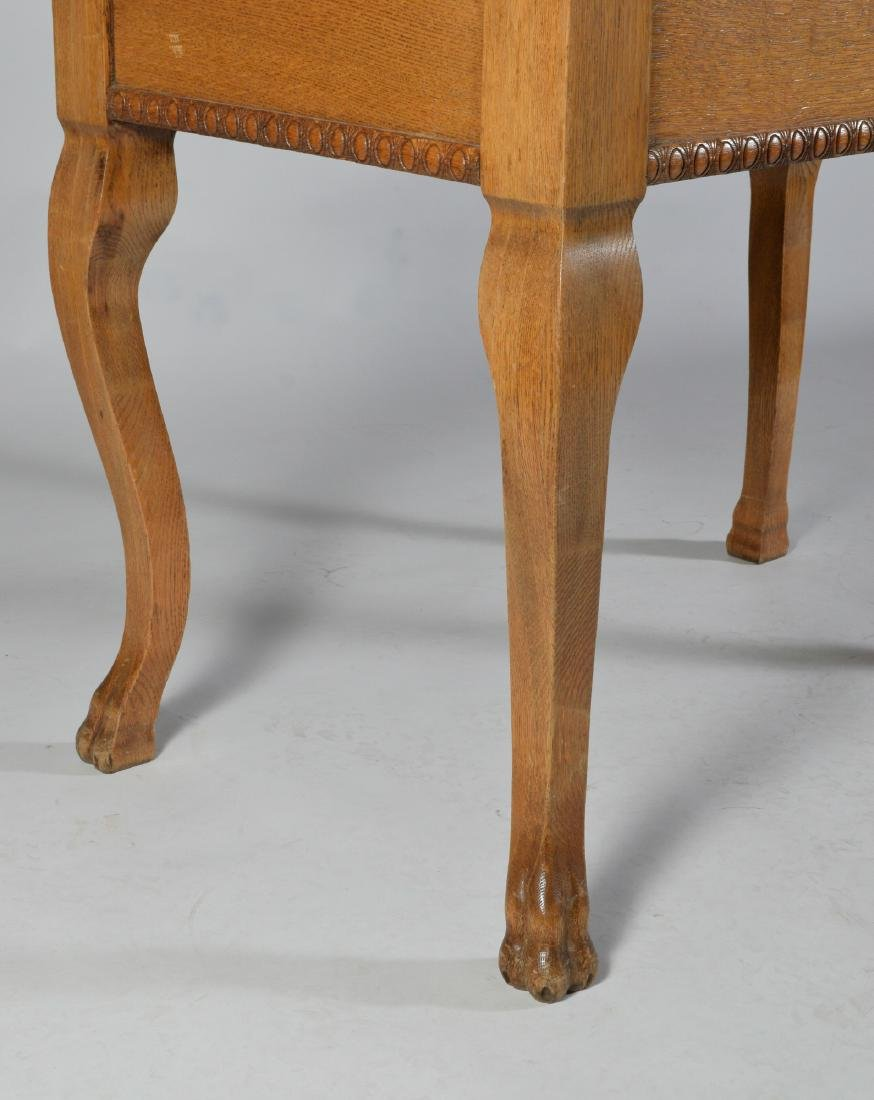 Antique Oak Ladies Writing Table - 6