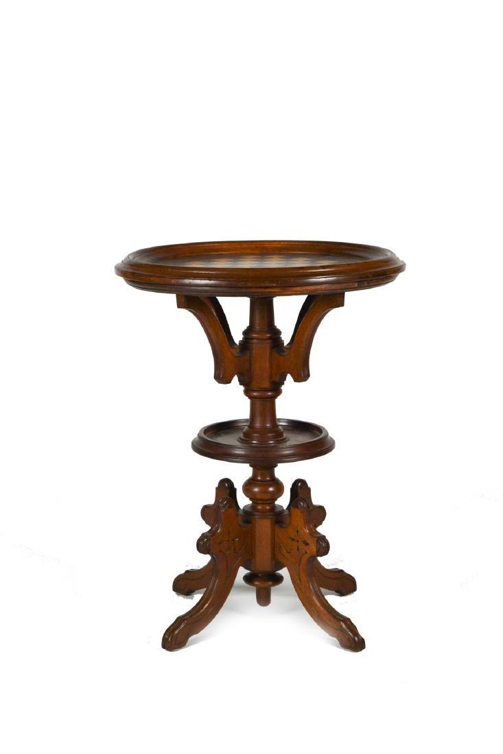 Victorian Walnut Chess Table
