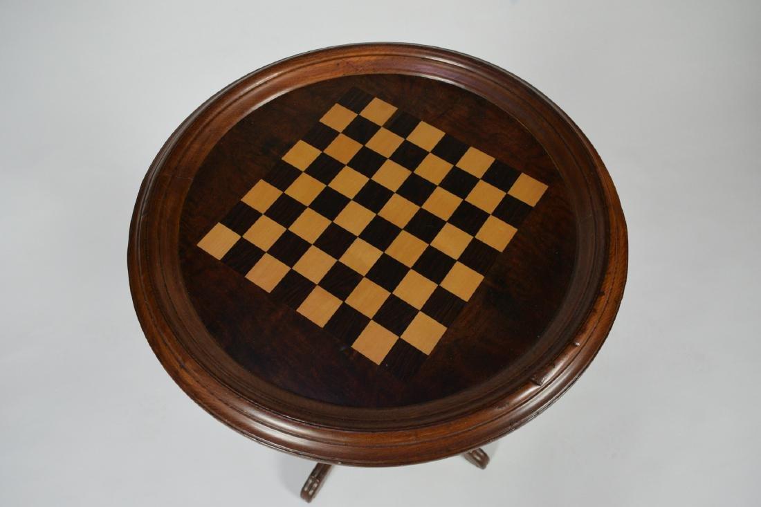 Victorian Walnut Chess Table - 2