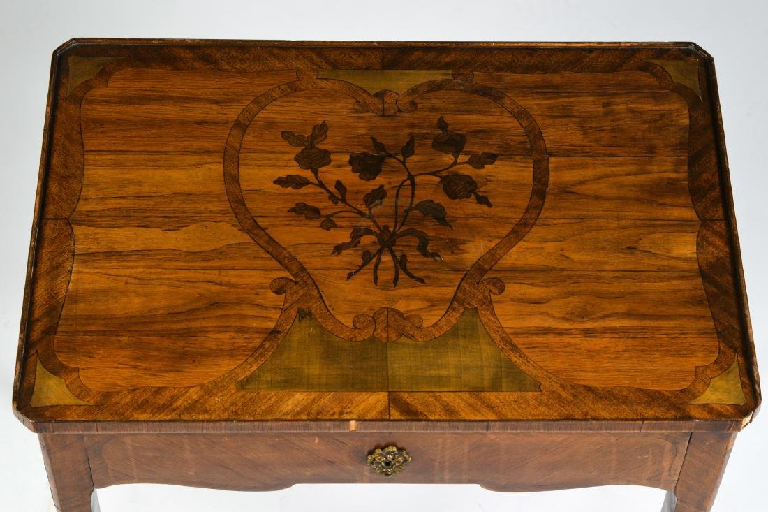 French Inlaid End Table circa 1900 - 2