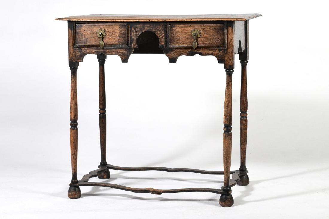 Elizabethan Style Oak Two Drawer Stand