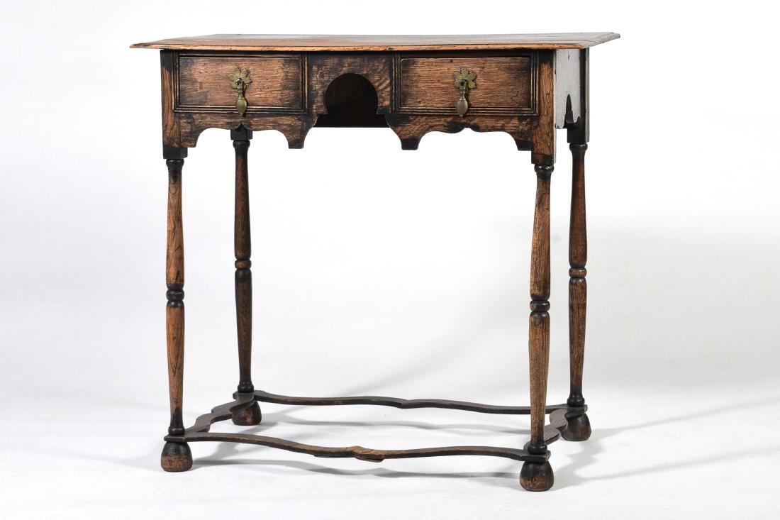 Elizabethan Style Oak Two Drawer Stand