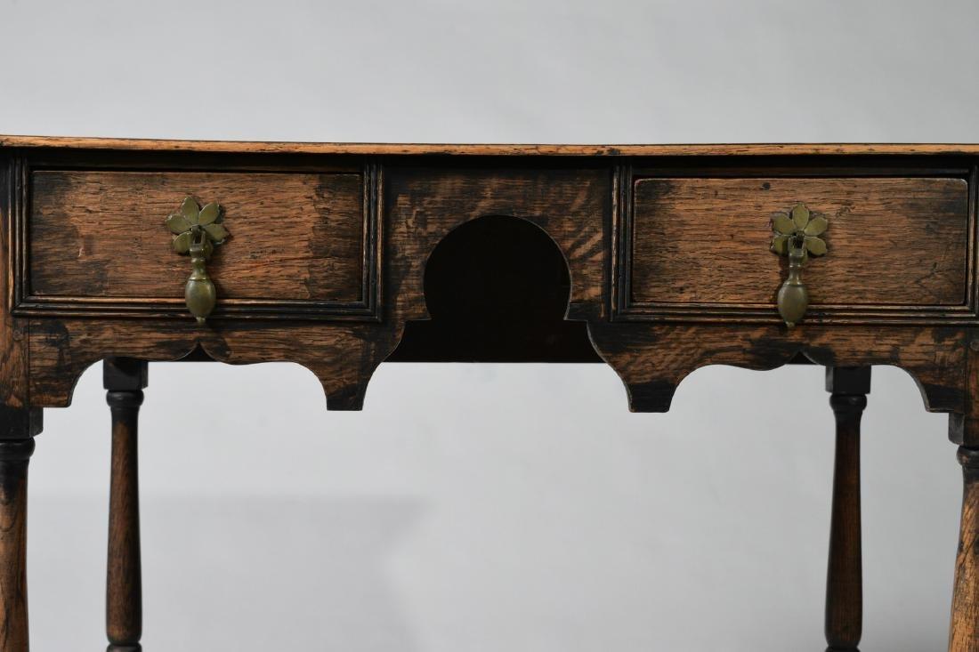 Elizabethan Style Oak Two Drawer Stand - 4