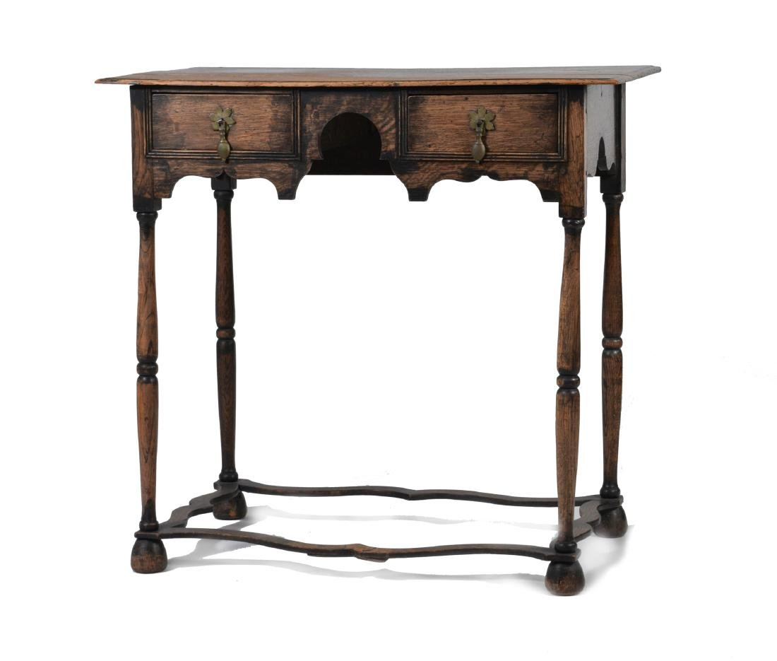 Elizabethan Style Oak Two Drawer Stand - 5