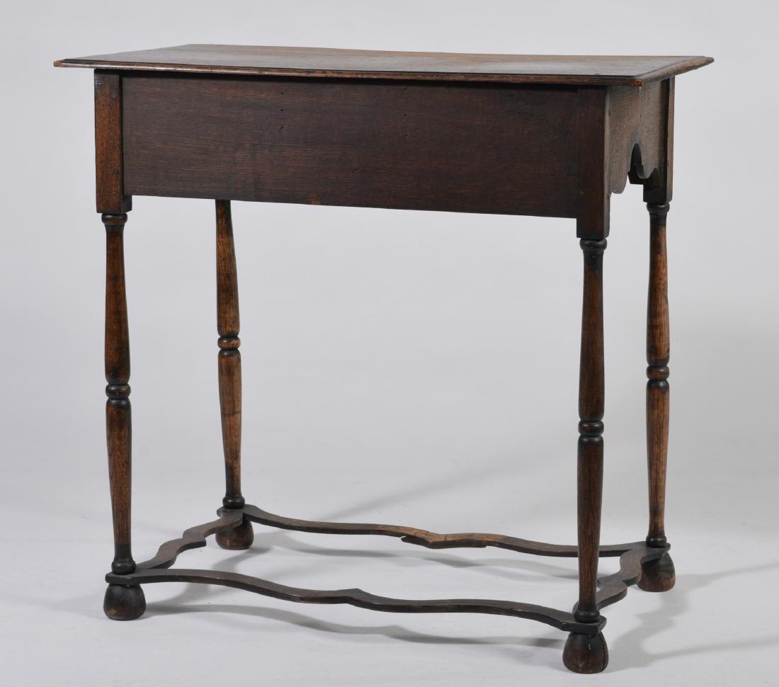 Elizabethan Style Oak Two Drawer Stand - 6