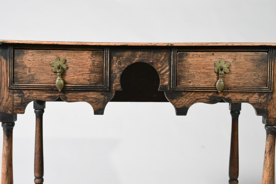 Elizabethan Style Oak Two Drawer Stand - 8