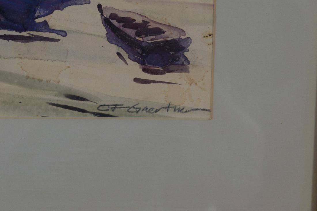 Watercolor Signed Carl F Gaertner - 2