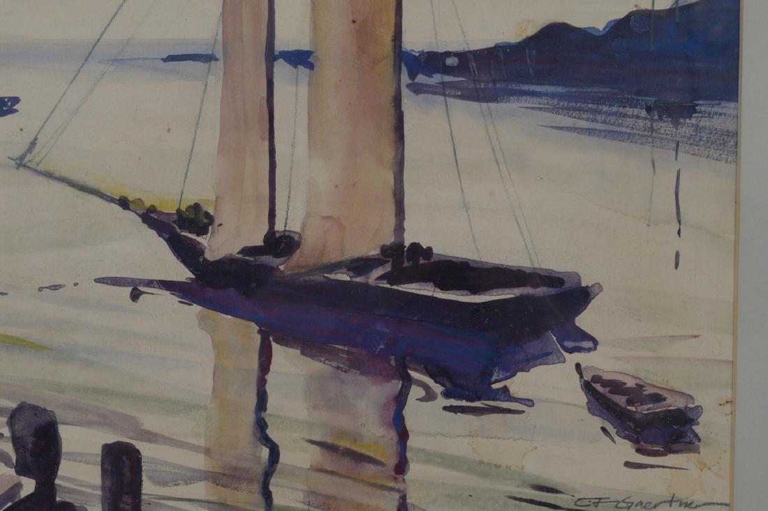 Watercolor Signed Carl F Gaertner - 3