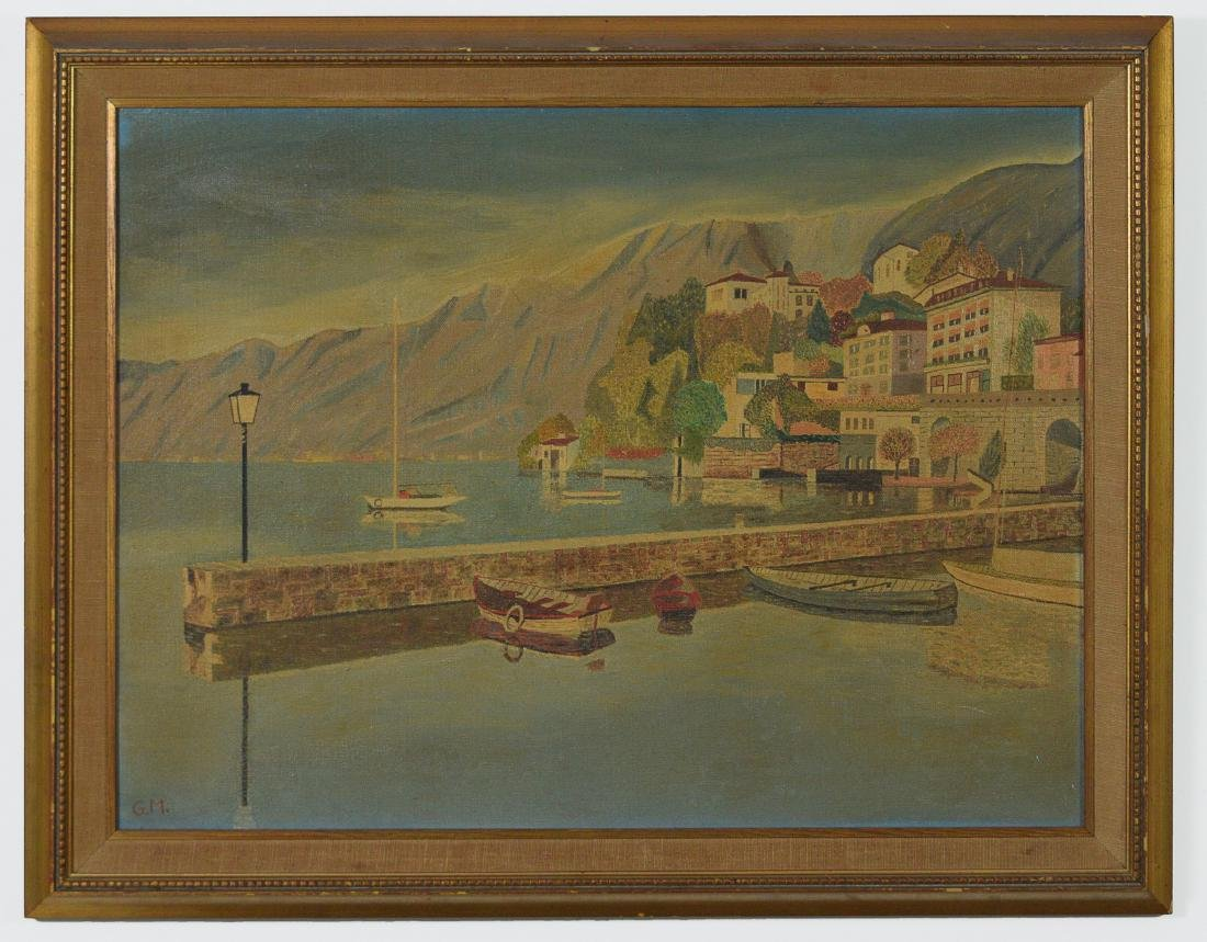 Oil on Canvas of Lake Maggiore