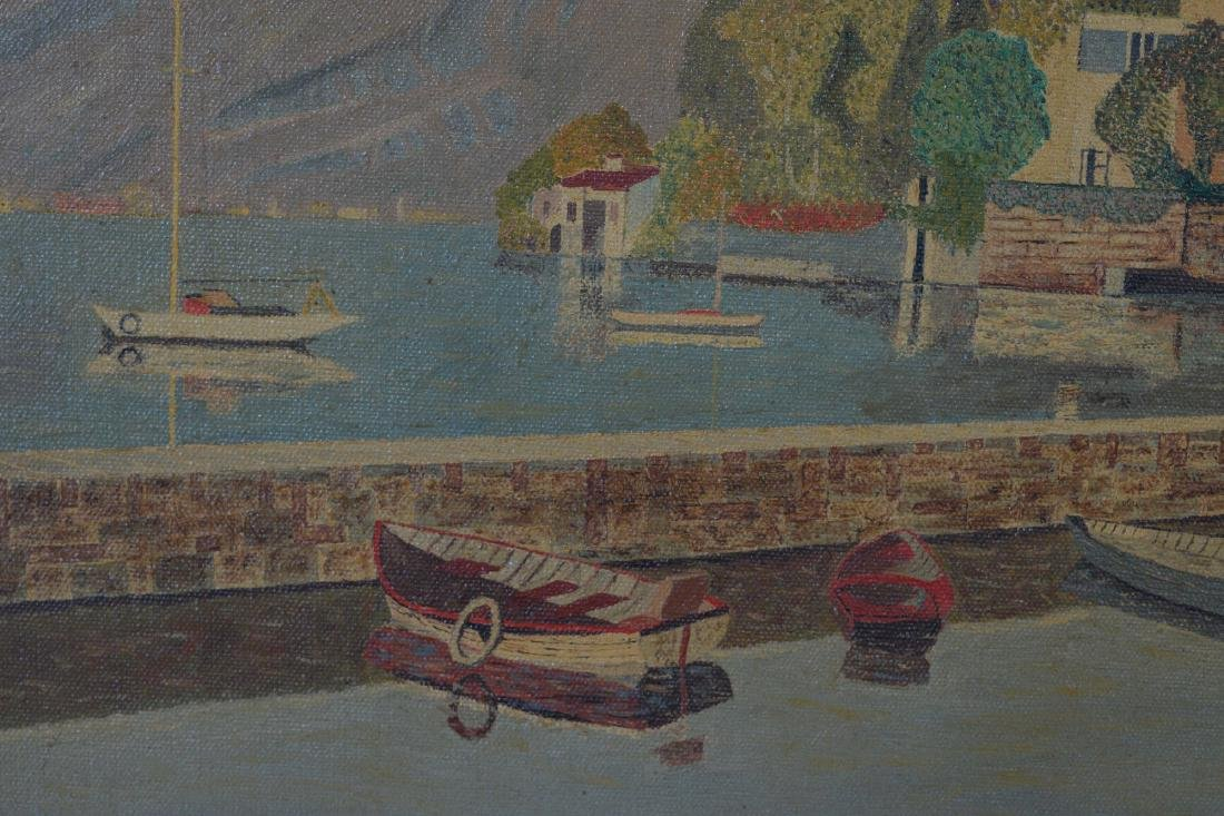 Oil on Canvas of Lake Maggiore - 2