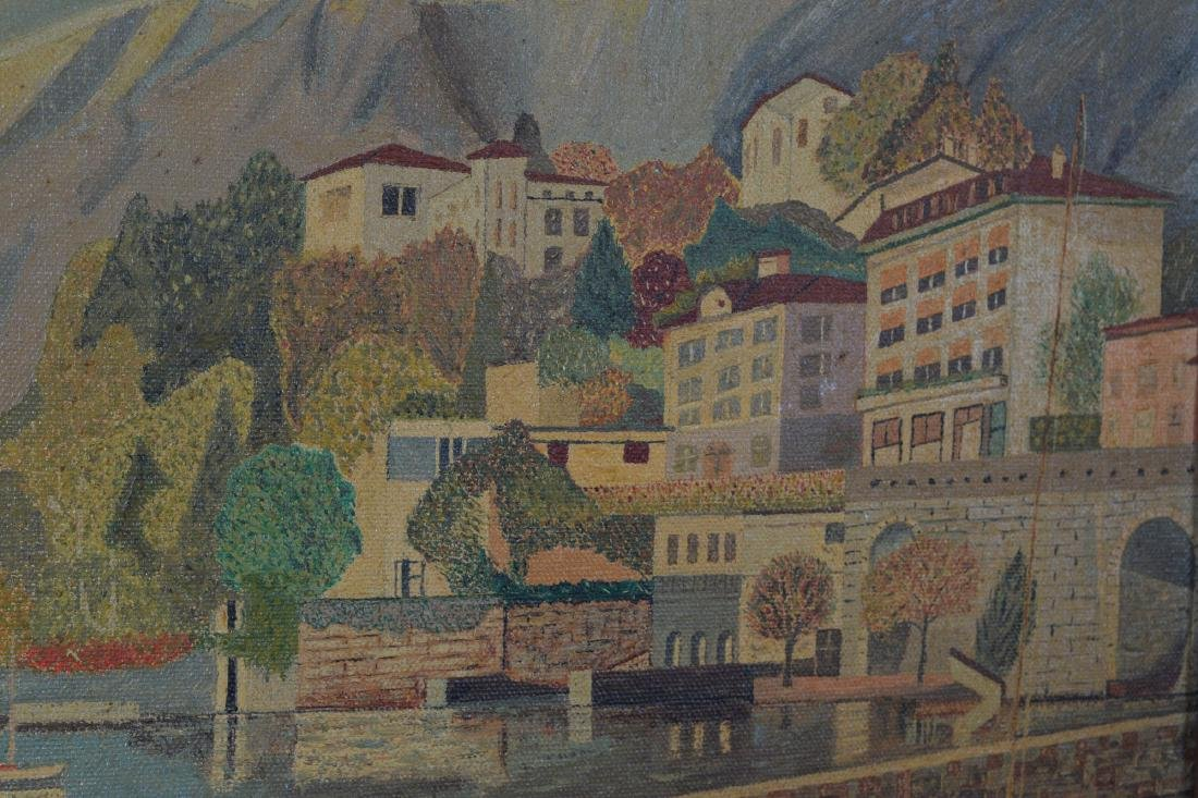 Oil on Canvas of Lake Maggiore - 4