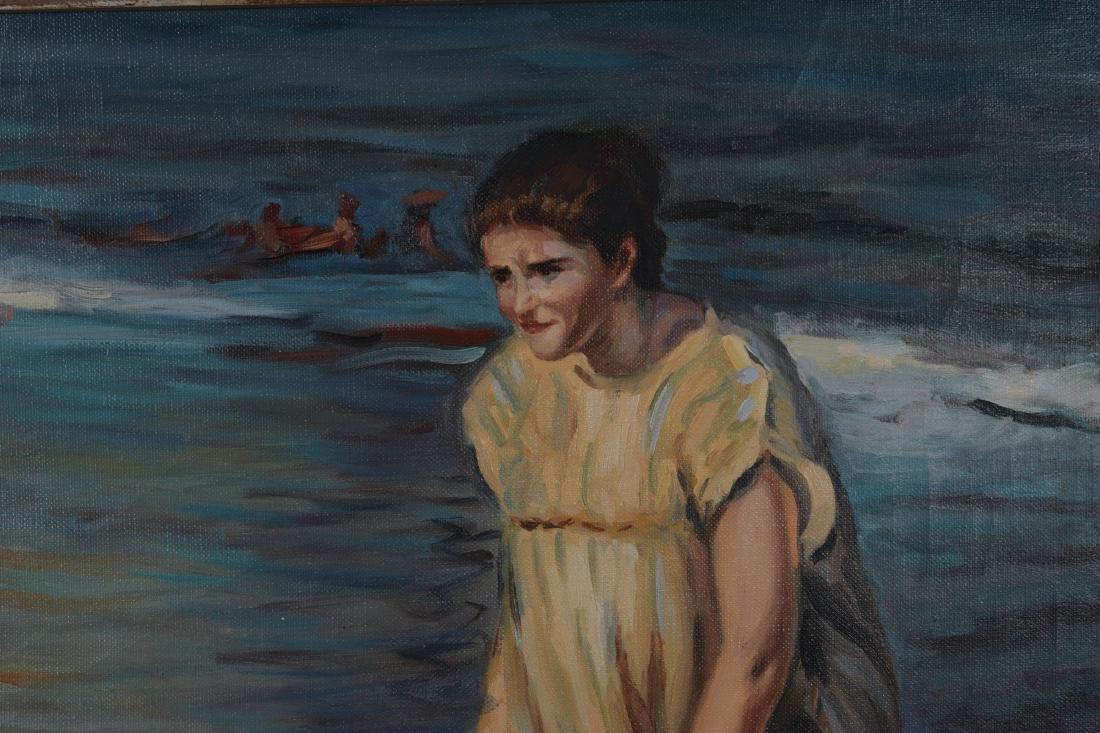 Oil on Canvas, Beach Scene - 2